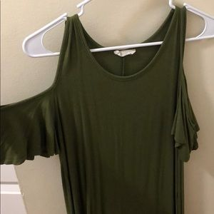 Green Tunic with Sleeve Cutouts